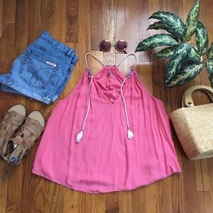 Urban Outfitters Coral Flowy Blouse